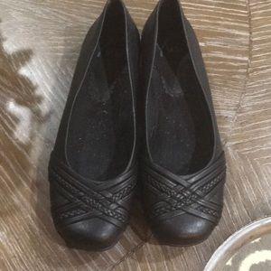 Black dress flats size 8